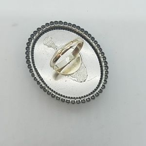 GASOLINE GLAMOUR Jewelry - Green glitter cocktail ring sample